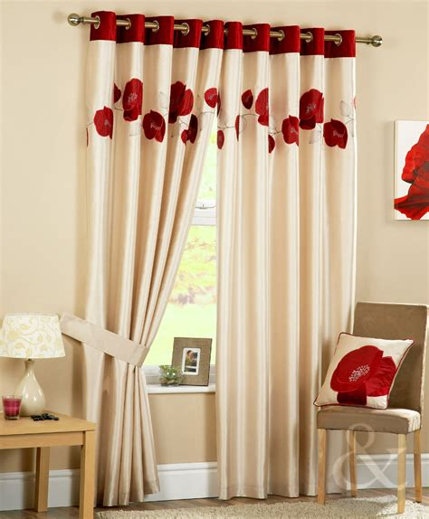 poppy curtains poppy curtains luxury heavy eyelet ring top ready made