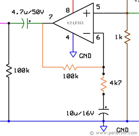 capacitor in parallel with feedback resistor operational lifier circuit design