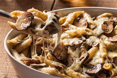 pasta bake recipes creamy mushroom pasta bake recipe chowhound