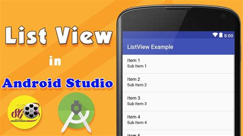 Android Studio Tutorial Sinhala | android list view in android studio android app