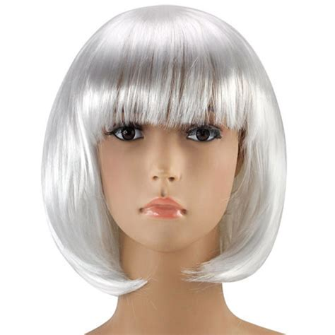 pictures of short wigs short white bob wig wigs by unique