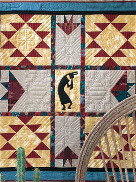 Southwest Quilt Patterns by Quilting Wall Quilts The Flute Player Wall Quilt Pattern