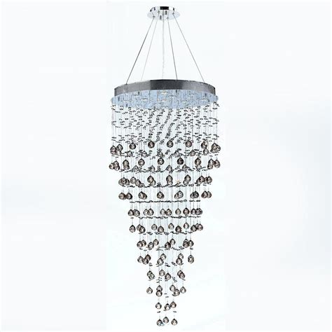 worldwide lighting icicle 12 light chrome with clear