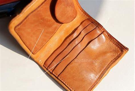 handmade genuine leather bifold purse wallet purse