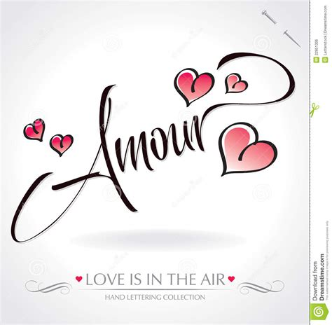 Cool Plans by Amour Hand Lettering Vector Royalty Free Stock Image