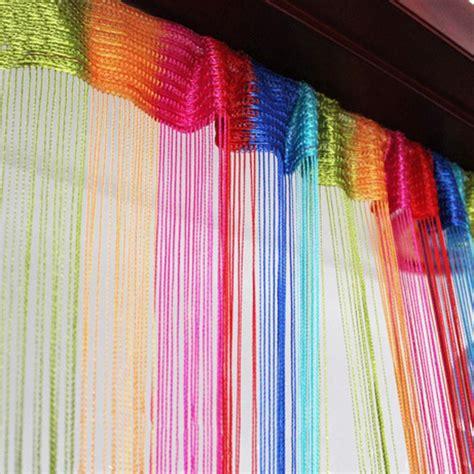 rainbow curtains rainbow string curtain