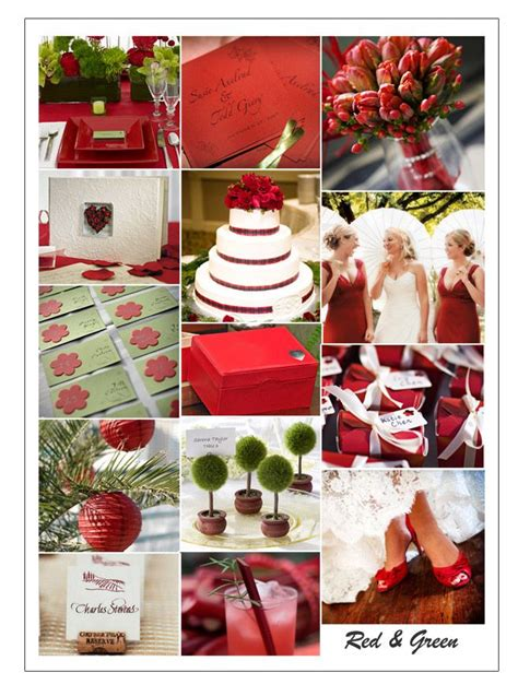 red and green color combination beautiful decoration centre table mariage vert archives blog detendance