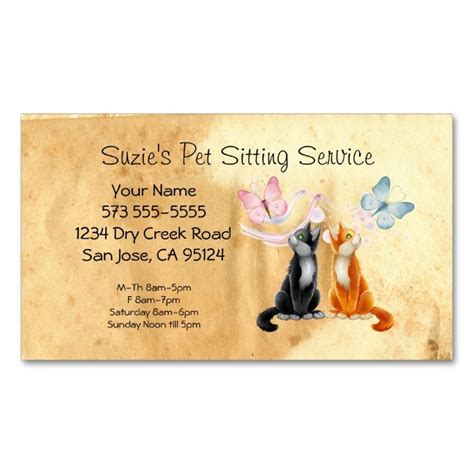 pet sitter business cards templates 2185 best images about animal pet care business card
