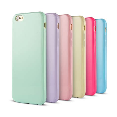 Big Tpu Iphone 6 Ps04 solid color tpu rubber cover for iphone 6
