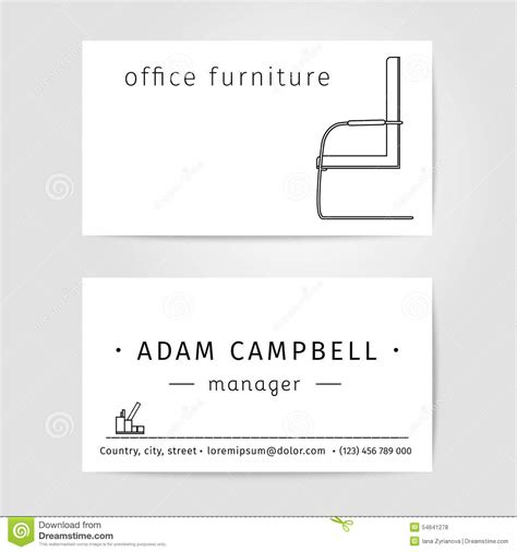 Card Chair Template by Interior And Office Furniture Designer Or Manager Stock