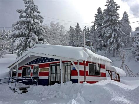 Green Valley Post Office by Southern California Storms Bring Some Snow And To