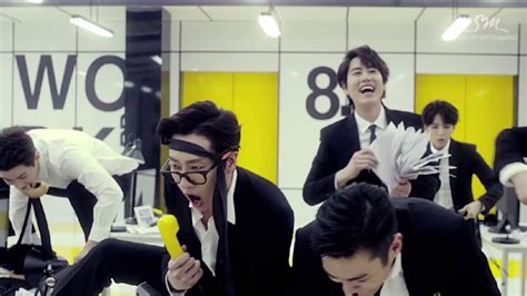 super junior swing super junior m has a party at work in swing mv soompi