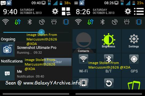 mod game samsung galaxy young mod jb 4 2 2 style status bar notification screen for