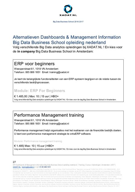Tilburg Mba Ranking by Dashboards Management Information Big Data Business School