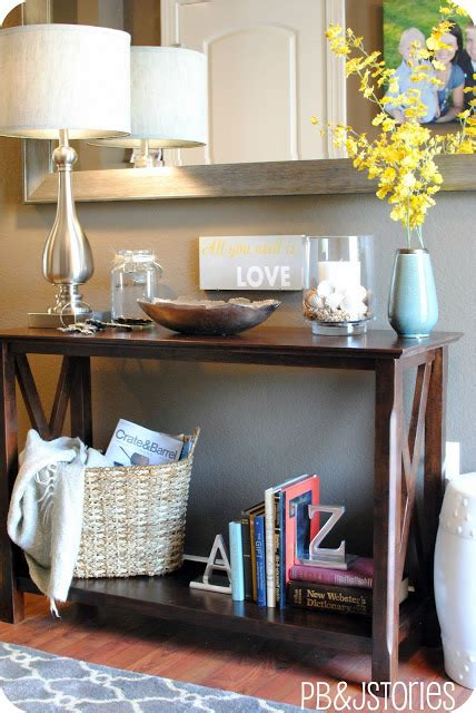 Ideas For Console Table With Baskets Design Creating A Well Styled Table Vignette Burger