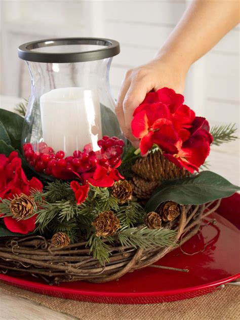 how to make a layered centerpiece hgtv