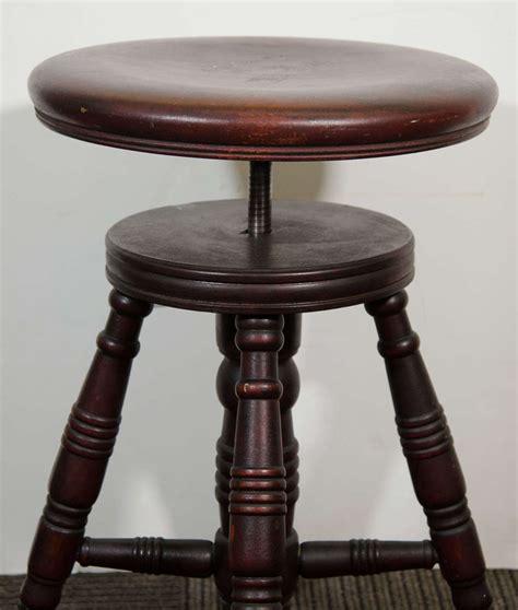 Adjustable Piano Stool by Antique Mahogany Turned Wood Adjustable Piano Stool At 1stdibs