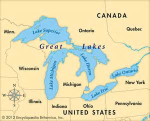 Michigan Great Lakes Map by Great Lakes Map For Kids Viewing Gallery