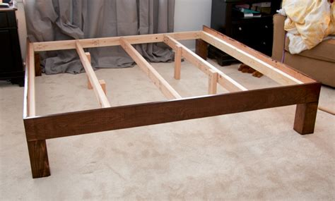 wood bed legs this diy platform enough support for latex bed the mattress underground