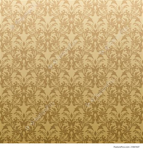 abstract patterns floral golden wallpaper stock