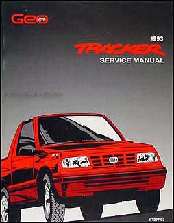 service manual 1993 geo tracker factory security alarm 1989 1993 chevrolet geo tracker parts book original