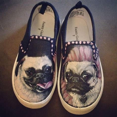 shoes for pugs pug toddler shoes painted shoes