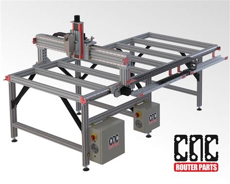 cnc router table kit pro4896 4 x 8 cnc router kit cncrouterparts