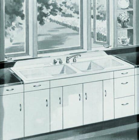 vintage kitchen with drainboard farmhouse drainboard sinks retro renovation