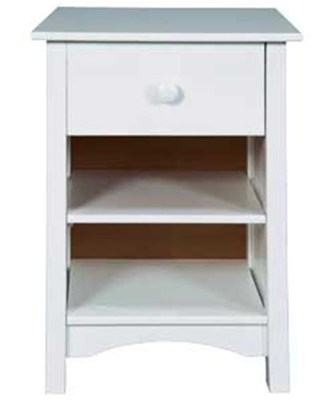 Argos White Bedside Cabinets by Argos Value Range 1 Drawer Bedside Cabinet White