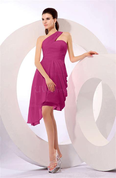 Plain Asymmetric Sleeveless Dress pink plain a line asymmetric neckline sleeveless