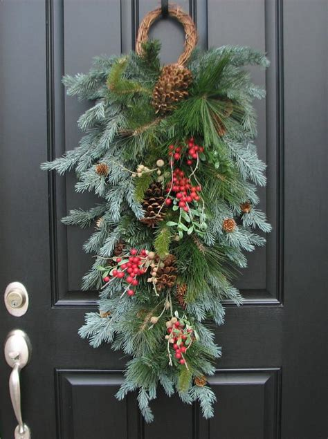 christmas swags for doors swag wreath a winter gatherings swag by twoinspireyou