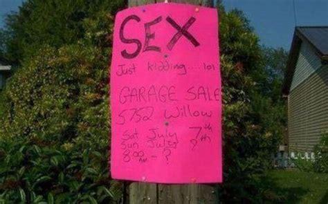garage sale signs  straight   point barnorama