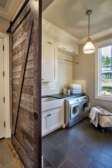 awesome laundry room  rustic touches home