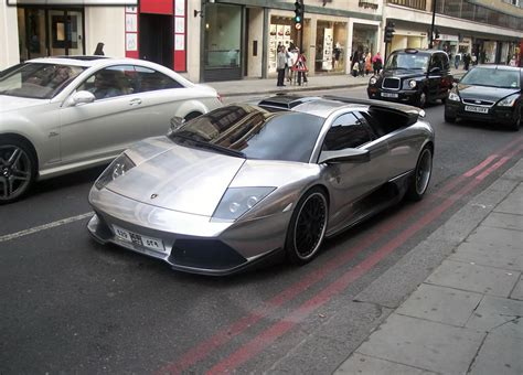 chrome lamborghini chrome plated lambo murcielago lp640 car