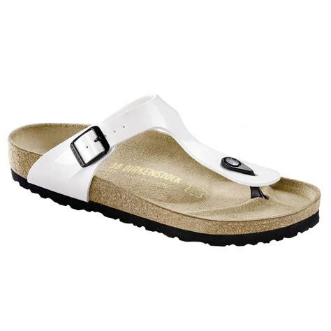 birkenstock white sandals birkenstock gizeh white patent sandal new arrivals