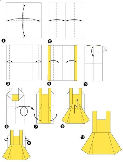 Easy Origami Dress - origami dresses and origami dress on