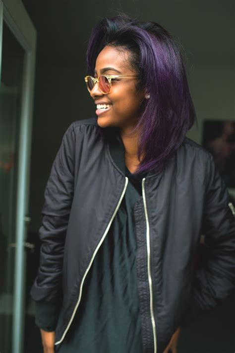 purple hair black women must try hair colors for the fall season glam radar