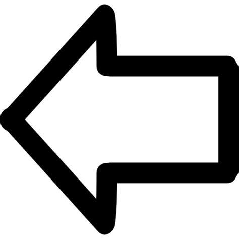 imagenes de setas blancas flecha apuntando al esquema dibujado a mano izquierda