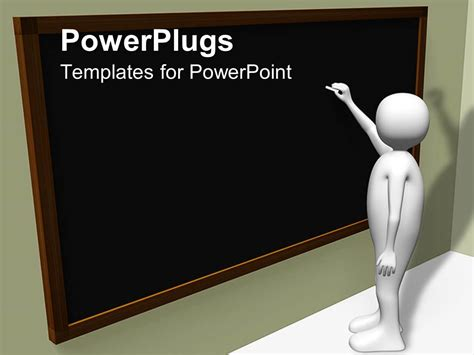 Powerpoint Template Person Writing On Blackboard With Chalk 28596 Powerpoint Templates For Teachers