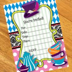 mad hatter tea invitations 8 at dollar carousel