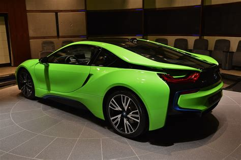 green bmw ever seen a lime green bmw i8 before carscoops
