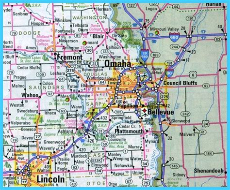 showing in lincoln ne map of omaha nebraska travelsmaps