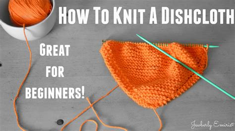 how to knit beginner how to knit a dishcloth great for beginners doovi