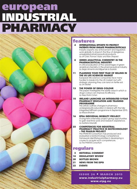 Industrial Pharmacy by European Industrial Pharmacy Issue 24 March 2015 By