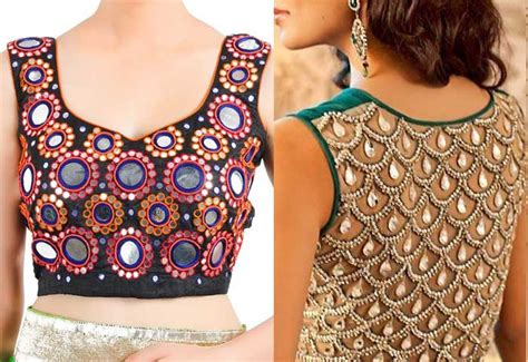 saree blouse designs hubpages wellness homes tattoo design bild 20 latest blouse designes mirror work patterns for women