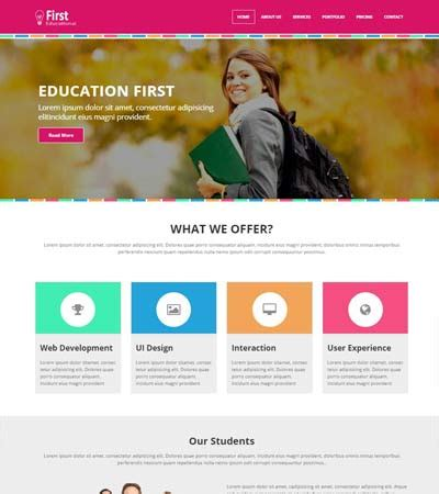free academic website templates educational free web template webthemez