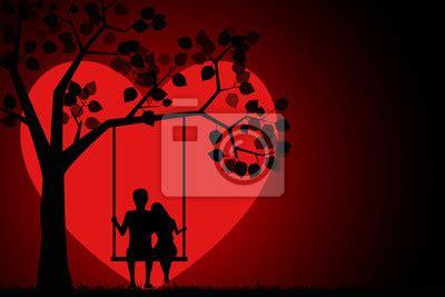Balancoire D Amour by Silhouette Romantique Damour Assis Sur Une