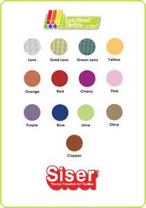 siser easyweed color chart silver lens siser easyweed electric by the foot