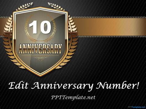 Free Dark Anniversary Powerpoint Template 50th Anniversary Powerpoint Template