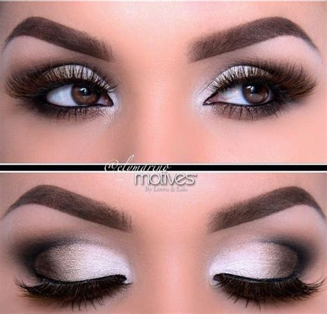 Eyeshadow And Eyeliner black and white makeup ideas